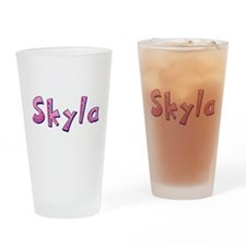 Skyla Pink Giraffe Drinking Glass