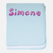 Simone Pink Giraffe baby blanket