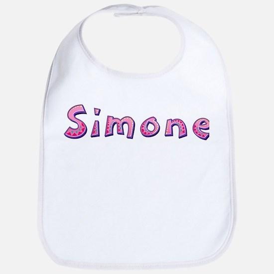 Simone Pink Giraffe Bib