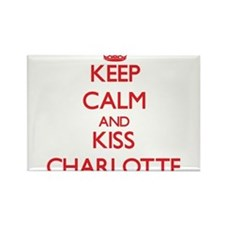 Keep Calm and Kiss Charlotte Magnets