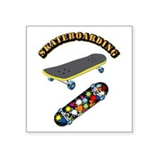 """Skateboard - Skateboarding Square Sticker 3"""" x 3"""""""