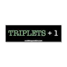 Funny Fun triplets Car Magnet 10 x 3