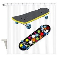 Skateboard - Skateboarding - No Txt Shower Curtain