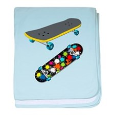 Skateboard - Skateboarding - No Txt baby blanket