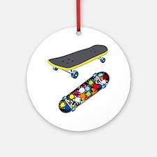 Skateboard - Skateboarding - No T Ornament (Round)