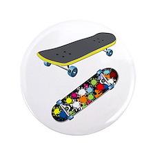 """Skateboard - Skateboarding 3.5"""" Button (100 pack)"""