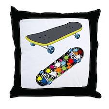 Skateboard - Skateboarding - No Txt Throw Pillow