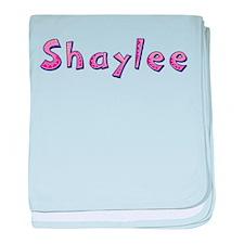 Shaylee Pink Giraffe baby blanket