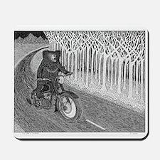 Sloth Bear on Motorbike Mousepad