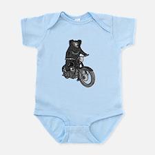 Sloth Bear on Motorbike Infant Bodysuit