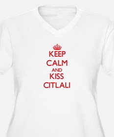 Keep Calm and Kiss Citlali Plus Size T-Shirt