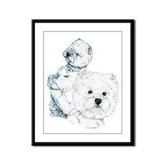 Westie Pair Framed Panel Print
