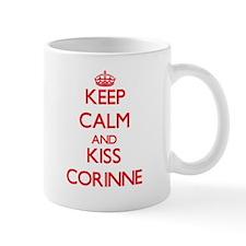Keep Calm and Kiss Corinne Mugs