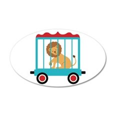 Circus Train Lion Cage Wall Decal