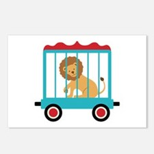 Circus Train Lion Cage Postcards (Package of 8)