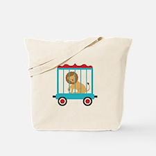Circus Train Lion Cage Tote Bag
