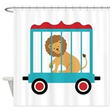 Circus Train Lion Cage Shower Curtain