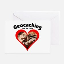 Geocaching Heart Greeting Cards (Pk of 10)