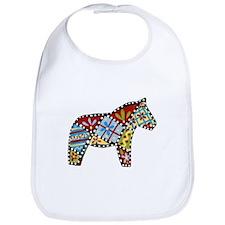 Right Facing Dala horse Bib