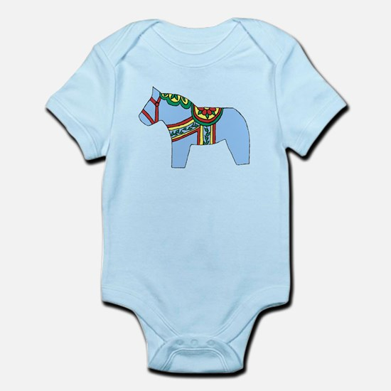 Blue Dala Horse Infant Bodysuit