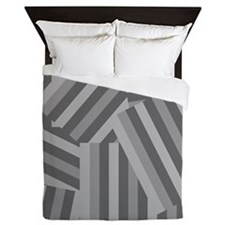 Modern Smokey Stripe Queen Duvet