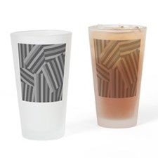 Modern Smokey Stripe Drinking Glass
