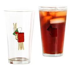 Christmas Close Pin ReinDeer Drinking Glass