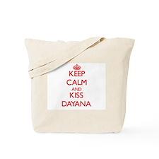 Keep Calm and Kiss Dayana Tote Bag