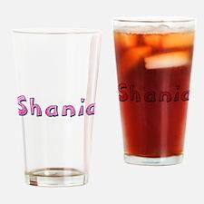 Shania Pink Giraffe Drinking Glass