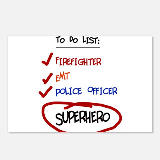 Superhero To Do List Postcards (Package of 8)