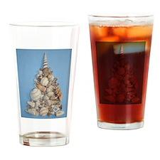 Seashell Christmas Tree Drinking Glass