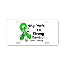 Wife Strong Survivor Aluminum License Plate