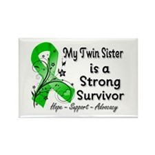 Twin Sister Strong Survivor Rectangle Magnet