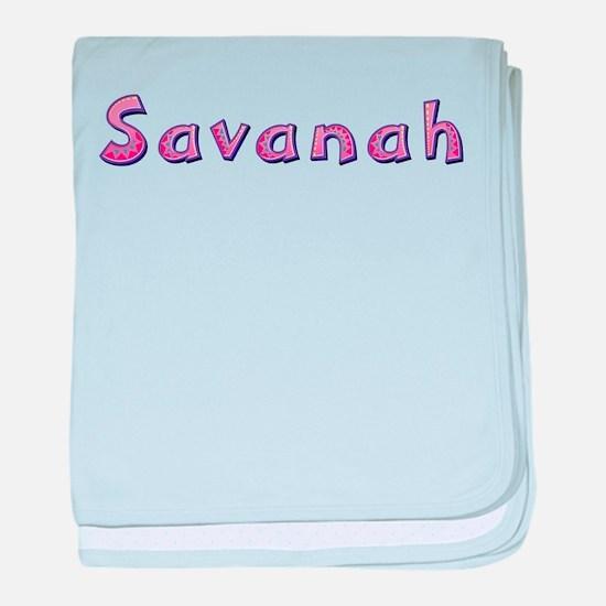 Savanah Pink Giraffe baby blanket