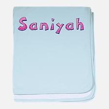 Saniyah Pink Giraffe baby blanket