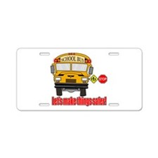Safer school bus Aluminum License Plate