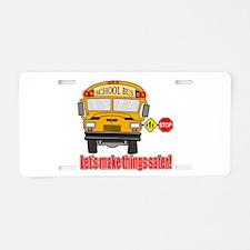Safer school bus Aluminum License Plate