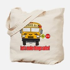 Safer school bus Tote Bag