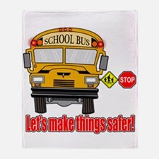 Safer school bus Throw Blanket