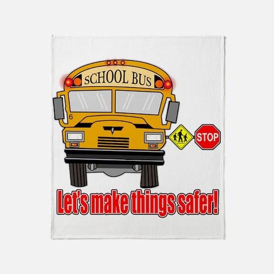 Safer school bus Throw Blanket