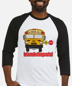Safer school bus Baseball Jersey