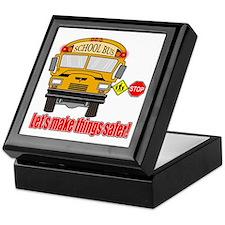 Safer school bus Keepsake Box
