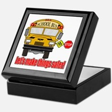 Safer school bus Keepsake Box