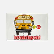 Safer school bus Rectangle Magnet (100 pack)