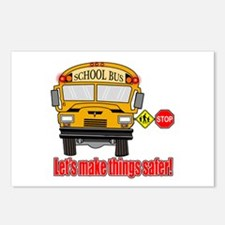 Safer school bus Postcards (Package of 8)