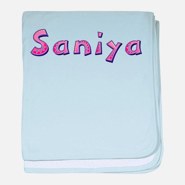 Saniya Pink Giraffe baby blanket