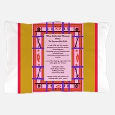 Feminist Tenets Curvy Plaid Abstract Art Pillow Ca