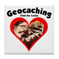 Geocaching Heart Tile Coaster