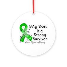 Son Strong Survivor Ornament (Round)