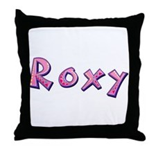 Roxy Pink Giraffe Throw Pillow